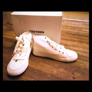 Tretorn women's Hi Denim vintage white/ Size 7